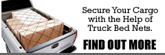Secure your cargo with the help of truck bed nets.  Find out more...