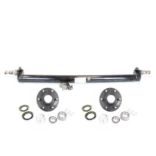6000 lb Axles Trailer Double Eye Spring Suspension Kit for 3 Tube