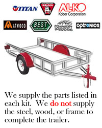 10,400 lb. Tandem Disc Brake Axle Trailer Kit