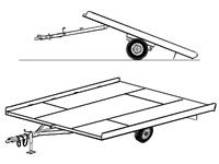 "10'x8'2"" Snowmobile Tilt Deck Trailer Plans (10SN)"