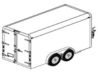 12'x6' Covered Cargo Trailer Plans (12CC)