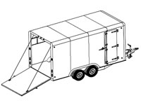 16'x8' Covered Cargo Trailer Plans (16CC)