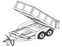10'x5' Hydraulic Dump Trailer Plans (10HD)