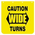 """Caution Wide Turns"" Polymer Mudflaps"