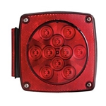 "Universal Under 80"" Combination LED Tail Light Driver Side w/ License Light"