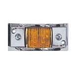 Amber Chrome Plated LED Marker/Clearance Light