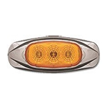 Amber Miro-Flex Mini Star Sealed LED Marker/Clearance Light (3 Diodes)