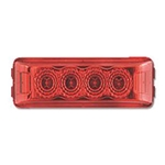 Red Crystal Clear Miro-Flex™ Thin Line Sealed LED Marker/Clearance Light
