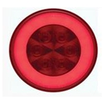 "4"" Round GloLightTM Stop/Turn/Tail Light RED"