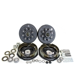 "8-6.5"" Bolt Circle 7,000 lbs. Trailer Axle Self-Adjusting Electric Brake Kit"