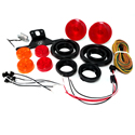 One Diode LED Kit Round for Single Axle Trailer