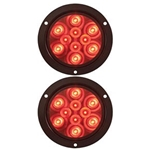 "4"" Round Sealed LED Stop/Turn/Tail Flange Mount Light Pair"