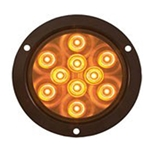 "4"" Round Sealed LED Yellow Parking/Turn Signal"