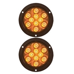 "4"" Round Sealed LED Yellow Parking/Turn Signal Pair"