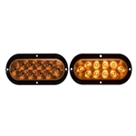 "6"" Flange Mount Oval Sealed LED Yellow Parking/Turn Signal Light"