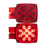 "Waterproof LED Combination Tail Lights for Over 80"" Applications Passenger Side"