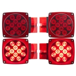 "Waterproof LED Combination Tail Lights for Over 80"" Applications Driver Side & Passenger Side"