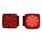 "Miro-Flex Universal Stud-Mount Under 80"" Combination LED Driver Side & Passenger Side tail light w/ LED license light"