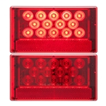 LED Combination Tail Light Driver Side w/ 5-LED License Light 23 Diodes