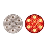 "4"" Round Sealed Clear LED Stop/Turn/Tail Light (10 diodes)"