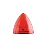 "Red 2.5"" Beehive Sealed LED Marker/Clearance Light"