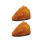 Sealed Amber LED Triangular Cab/Clearance Light - PC Rated Pair