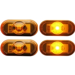 1-LED Mini Amber Oval Marker/Clearance Light Pair