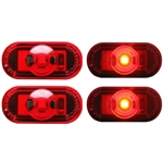 1-LED Mini Red Oval Marker/Clearance Light Pair