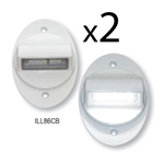 LED White ADA Step/Area Light Pair