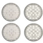 "4"" Round Sealed Clear DOT LED Back-Up Light 27-LED Pair"
