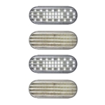 "6"" Oval Sealed Clear DOT LED Back-Up Light Pair"