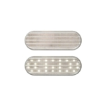 "6"" Oval Sealed Clear DOT LED Back-Up Light 27-LED"