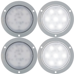 "Opti-Brite ™  4"" Dome Light Flange Mount Pair"