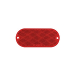 Red Oblong Self Adhesive/Screw Mount Reflector