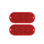 Red Oblong Self Adhesive/Screw Mount Reflector Pair