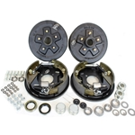 "5-5.5"" Bolt Circle 3,500 lbs. Trailer Axle Hydraulic Brake Kit With Timken Bearings"