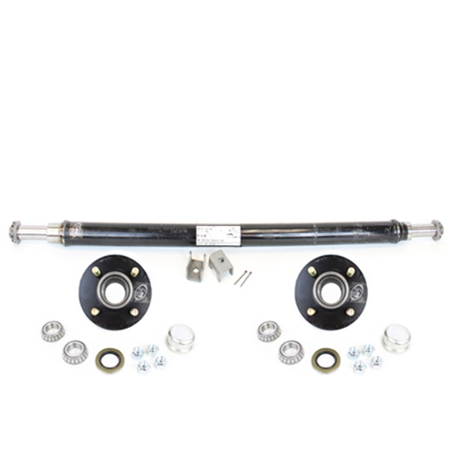 Southwest Wheel 2,000 lbs Trailer Axle Spindle with 5-4.5 Bolt Circle Hub